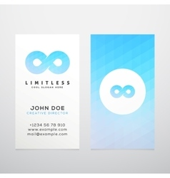 Abstract Limitless Infinity Symbol Icon or vector image