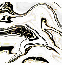 abstract luxury liquid marble white black and vector image