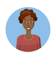 African american woman avatar icon cartoon style vector image