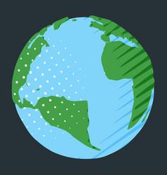 Atlantic ocean between africa and america on vector