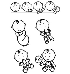 Baby growing vector