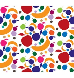 Banana Apple Pear Fruits pattern vector