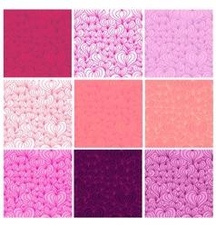 Big set of Valentine seamless patterns vector image