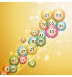 Bingo ball border vector