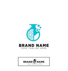 brain lab logo design template icon element vector image