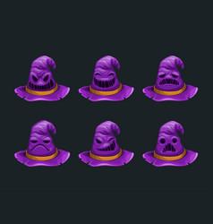 cartoon fantasy purple hat character vector image
