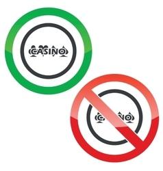 Casino permission signs vector image