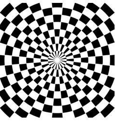 Checkered spiral swirl background vector