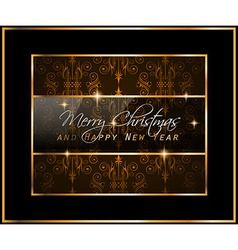 Christmas GoldFrame vector image