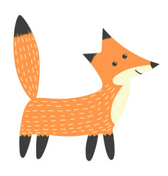 clever fox isolated element vector image