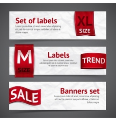 Clothing labels banners vector