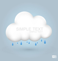 cloud and rain vector image