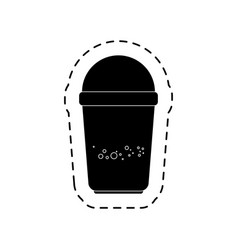 Coffee glass isolated icon vector