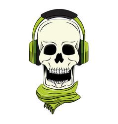 Cool skull cartoon vector