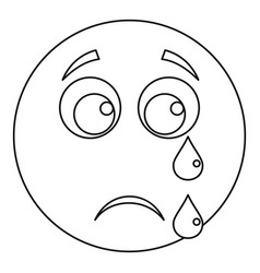Cry smile icon thin line vector