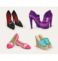 fashion collection womans shoes vector image
