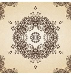 Filigree henna pattern vector