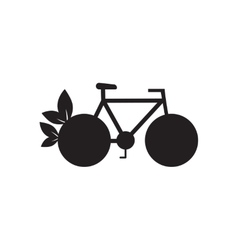 Flat icon in black and white eco bike vector