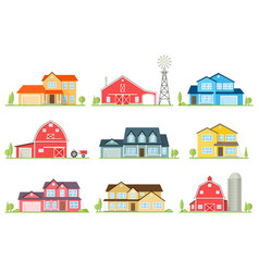 flat icon suburban american house vector image