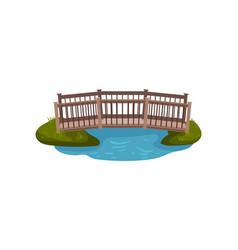 flat of small wooden bridge vector image