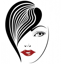 glamour girl portrait vector image