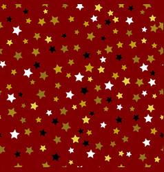 gold stars seamless pattern vector image