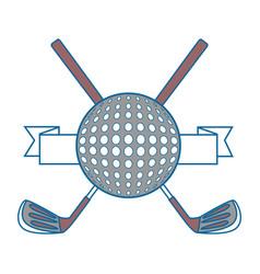 golf sport emblem vector image