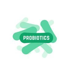 Green probiotics bacteria logo vector