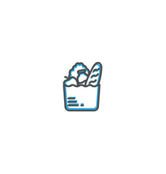 groceries icon design gastronomy icon vector image