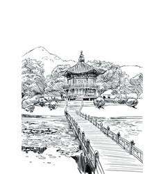 gyeongbokgunghyangwonjeong seoul vector image