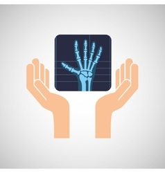 hands x-ray hand medicine icon vector image