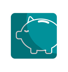 Logotype save money inside pig in the home vector