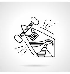 Longboard line icon vector image