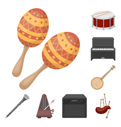 Musical instrument cartoon icons in set collection vector