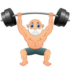 old man weightlifting vector image