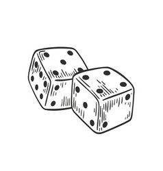 pair dice lying with four and five on top side vector image