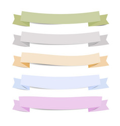 paper ribbons with shadow vector image