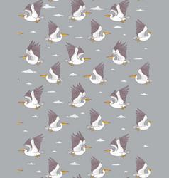 pelicans pattern vector image