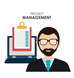 Project management and business theme design vector