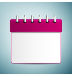 Purple calendar icon isolated on blue background vector image