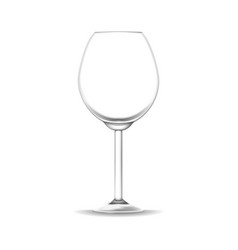 realistic detailed 3d empty wine glass isolated on vector image