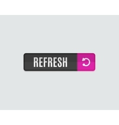 Refresh web button flat modern design vector image