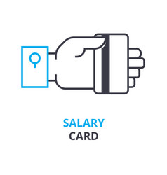 salary card concept outline icon linear sign vector image