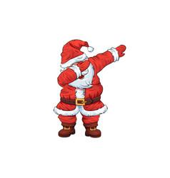Santa claus character dancing dab step vector