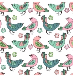Seamless pattern with stylized birds For your vector image