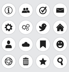set of 16 editable web icons includes symbols vector image