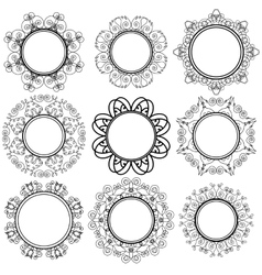 Set of Circle Geometric Ornaments vector image