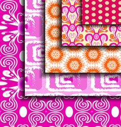 set Purple abstract pattern vector image