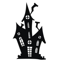 silhouette a mystical castle vector image