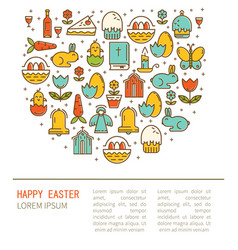 Simple of happy easter vector